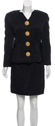 Oscar de la Renta Quilted Skirt Suit