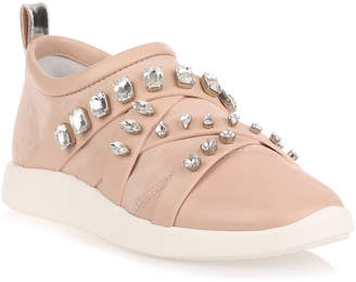 Giuseppe Zanotti Blush suede and nappa leather sneaker