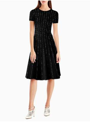 Jason Wu Short Sleeve Crew Midi Dress