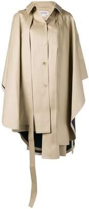 Loewe cape style trench coat