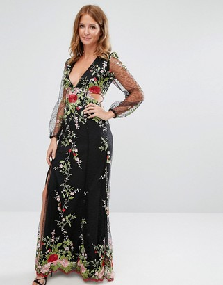 Millie Mackintosh Embroidered Lace Gown $301 thestylecure.com