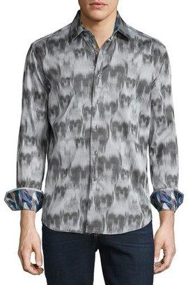 Robert Graham Ghostriders Skull-Print Sport Shirt, Gray $268 thestylecure.com