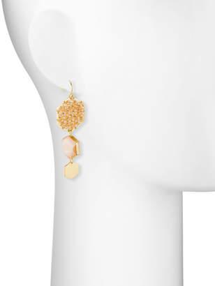 Panacea Triple Hexagon Drop Earrings