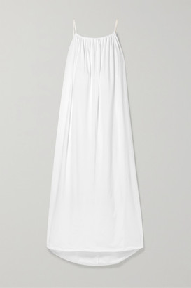 The Row Dresia Oversized Tassel-trimmed Cotton-jersey Maxi Dress - White