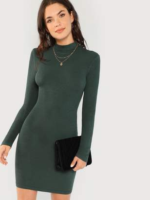 Shein Form Fitting Ribbed Knit Dress