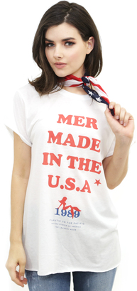 The Laundry Room Team USA Rolling Tee in White $53 thestylecure.com