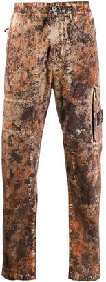 paintball-print cargo trousers
