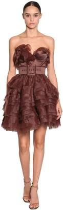 Ermanno Scervino Short Ruffle Organza Dress