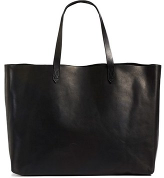 Madewell 'The East-West Transport' Leather Tote $178 thestylecure.com