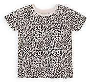 ATM Anthony Thomas Melillo Kids' Leopard-Print Cotton T-Shirt - Cream