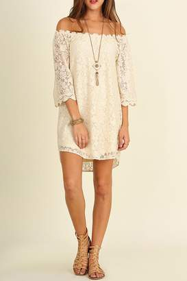 Umgee USA Lace Off-Shoulder Dress