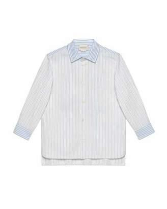 5743a9879 Gucci Multi Oxford Stripe Button-Down Shirt w/ Maison de L'Amour Crest