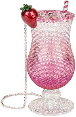 Judith Leiber Pink Lady Cocktail Minaudiere Clutch