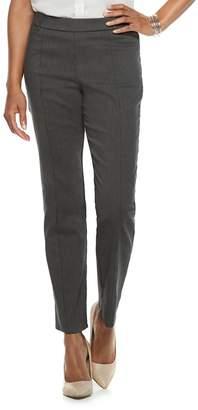 6e68cb0fe4 ... Petite Napa Valley Slimming Solution Straight-Leg Dress Pants