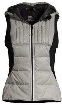 Blanc Noir Reflective Inset Feather Vest
