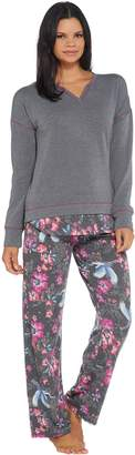 Cuddl Duds Comfortwear Novelty Pajama Set