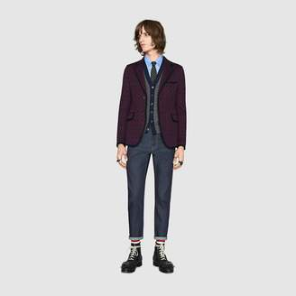 Gucci Bee jacquard oxford Duke shirt