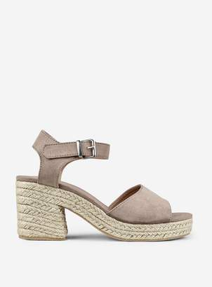 Dorothy Perkins Womens Taupe 'Rollo' Espadrille Wedges