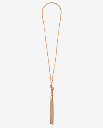 Express Braided Knot Y Necklace