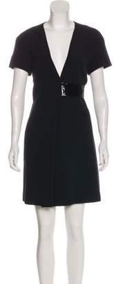 Christopher Kane Short Sleeve Mini Dress