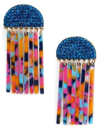 Lele Sadoughi Crystal Comb Earrings