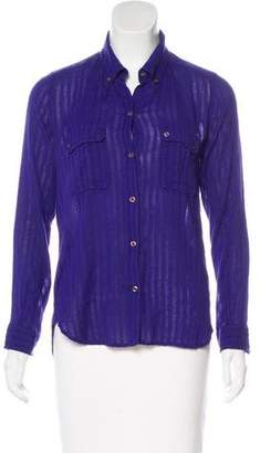 Etoile Isabel Marant Collared Button-Up Top