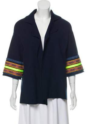 Giada Benincasa Quarter Sleeve Patterned Jacket