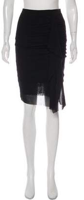 Fuzzi Layered Knee-Length Skirt