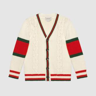 Gucci Children's cable knit cotton cardigan