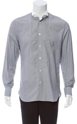 John Varvatos Striped Button-Up Tuxedo Shirt