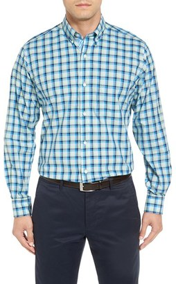 TailorByrd Ithaca Falls Regular Fit Check Sport Shirt (Big & Tall) $125 thestylecure.com