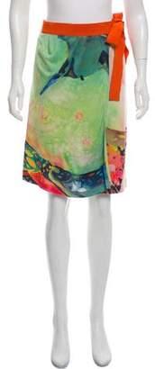 Philosophy di Alberta Ferretti Abstract Print Wrap Skirt