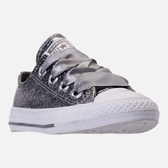 Converse Girls' Little Kids' Chuck Taylor All Star Sparkle Big Eyelets Satin Casual Shoes