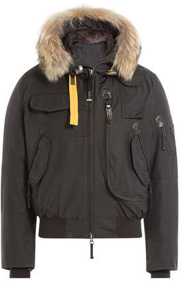 Parajumpers Down Jacket with Fur-Trimmed Hood
