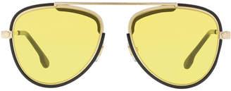 Versace Men's Metal Aviator Sunglasses with Medusa