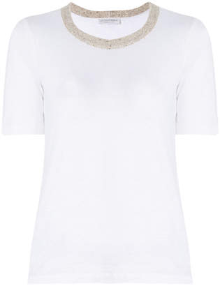 Le Tricot Perugia knitted collar T-shirt
