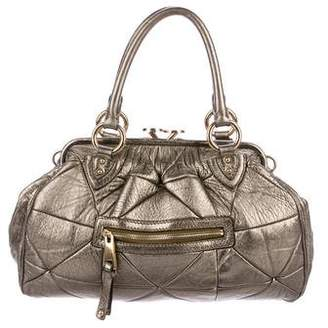 Marc Jacobs Metallic Quilted Stam Bag