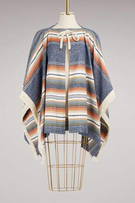 See by Chloe Fringed Poncho Coat