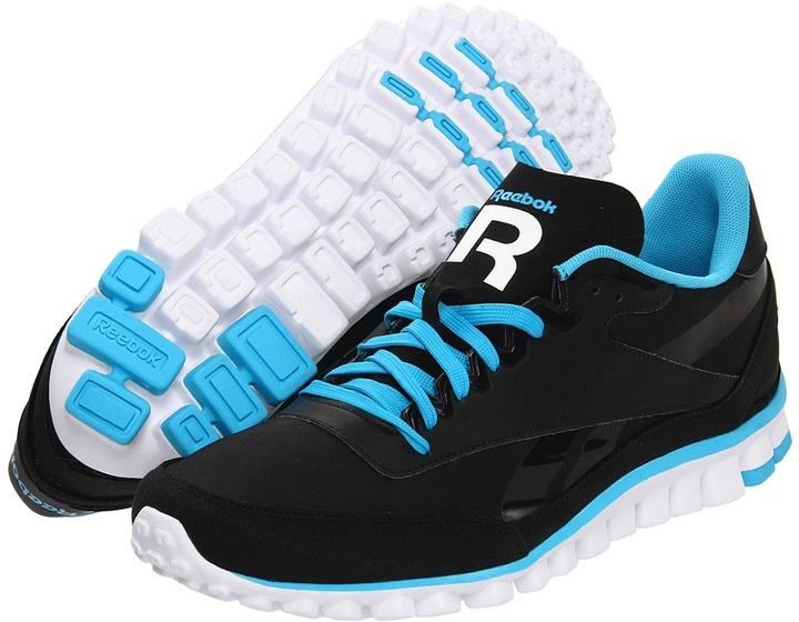 Reebok Aztec Flex Racer (Black/Buzz Blue/White) - Footwear