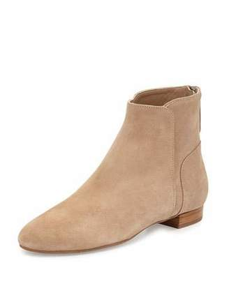 Delman Myth Suede Ankle Boot, Flesh $398 thestylecure.com