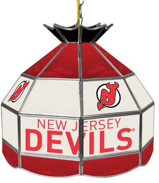 Pool' Trademark Global NHL Stained Glass 1-Light Pool Table Lights Pendant NHL Team: New Jersey Devils
