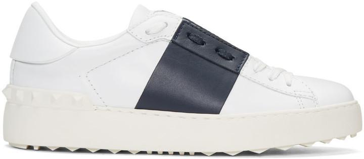 Valentino White & Navy Open Sneakers