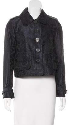 Burberry Jacquard Button-Up Jacket