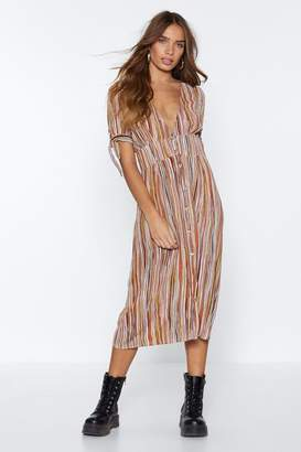 Nasty Gal It's a Line to Look This Good Midi Dress