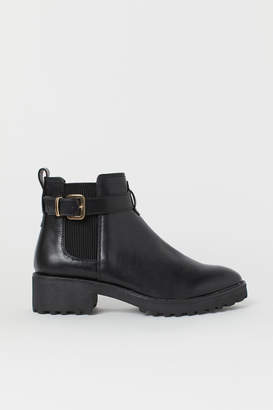 H&M Chelsea Boots with Strap - Black