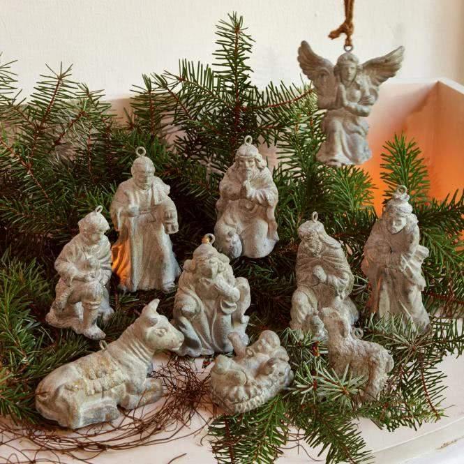 LOBERON Krippenfiguren 10er-Set Holy Family
