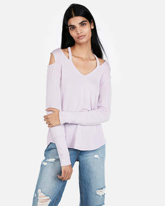 Express One Eleven Spliced Long Sleeve Tee