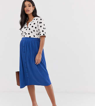 Mama Licious Mama.Licious Mamalicious button through midi skirt