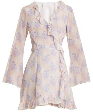 Athena Procopiou - Violet's Whisper Silk Wrap Dress - Womens - Purple Multi