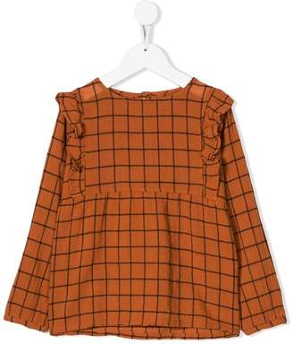 Emile et Ida wide check blouse